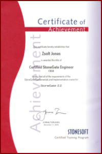 Certified StoneGate Engineer (CSGE)